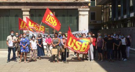 manifestazione lavoratori fenice 09luglio 1