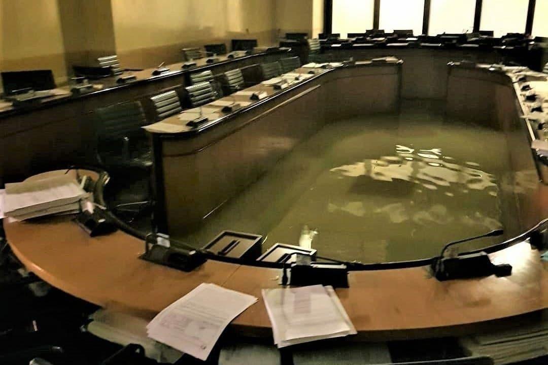 aula allagata consiglio regionale veneto Veneto